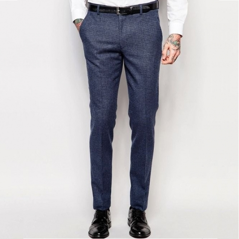 Kék kockás nadrág