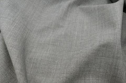 Vászonszövésű melange szürke 98% gyapjú, 2% elasztáb