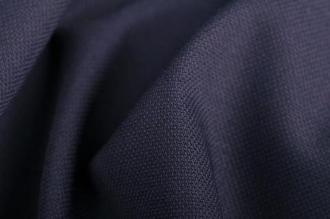 Vászonszövésű sötétkék 98% gyapjú, 2% elasztán