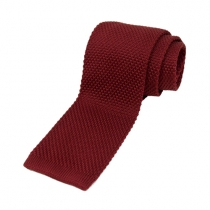 Kötött nyakkendő burgundi