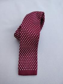 Bordó mintás kötött nyakkendő