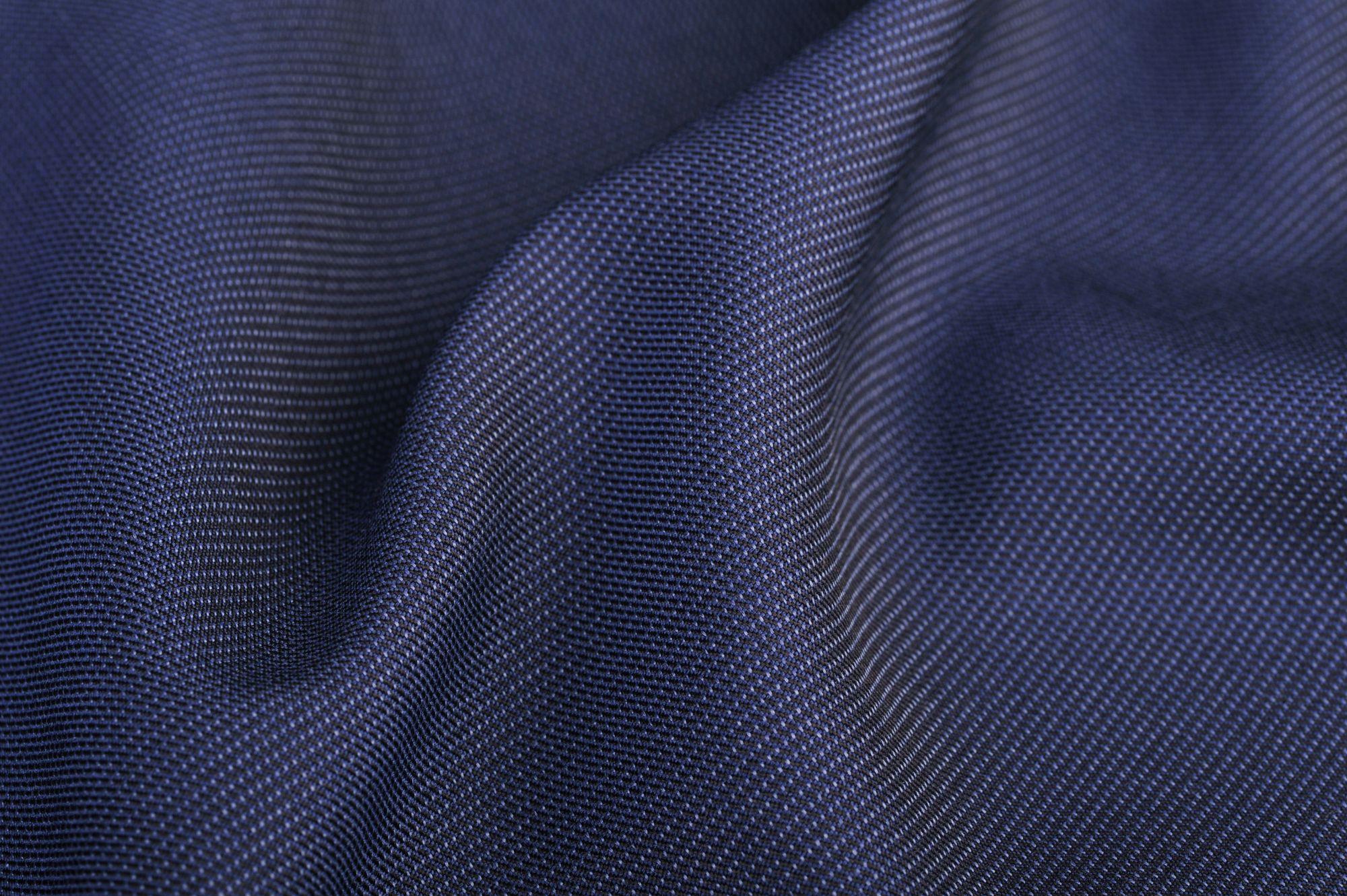 Vászonszövésű kék gyapjú