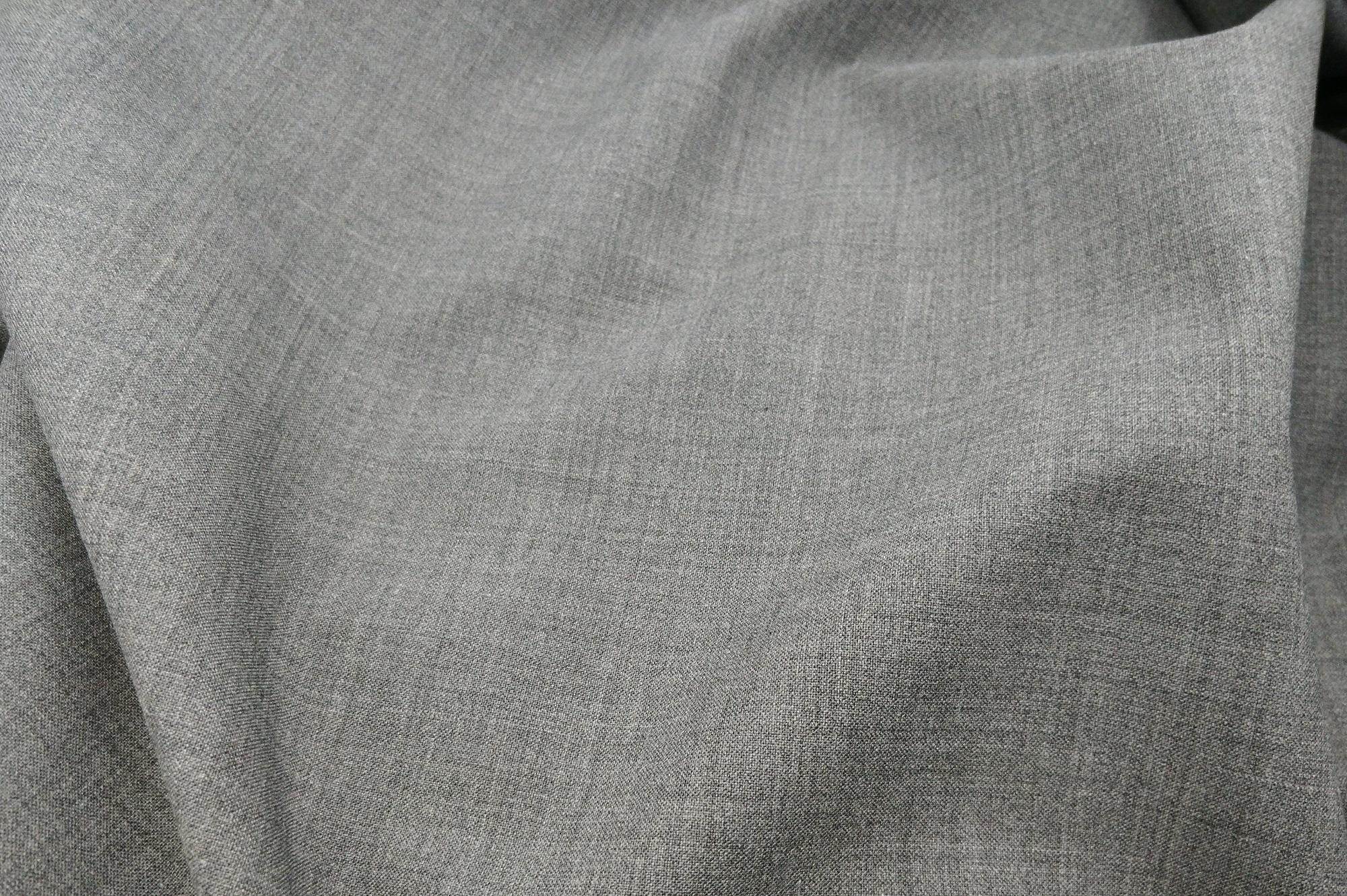 Vászonszövésű melange szürke 98% gyapjú, 2% elasztán